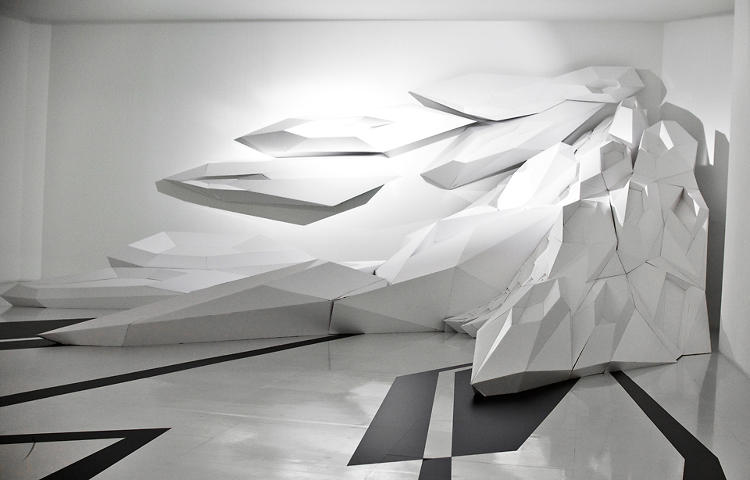 <p>In nearby gallery spaces, clients could stock up on Hadid-designed necessities or hang out on amorphous sculptures.</p>