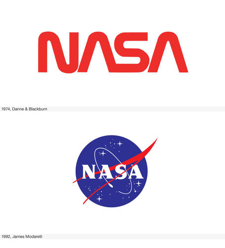 <p>NASA made a cosmic mistake when it abandoned the streamlined &quot;worm&quot; to reintroduce the &quot;meatball&quot; logo of 1959. (Go <a href=&quot;http://www.fastcodesign.com/1670258/nasas-logo-redesigned-to-be-truly-out-of-this-world#1&quot; target=&quot;_self&quot;>here</a> to read about an alternative proposal.)</p>