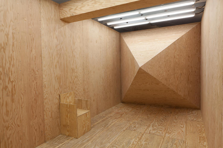 <p>The L.A. artist's show is centered on a &quot;mystery spot,&quot; called <em>Demon Hill #2</em>, which uses optical illusions to distort visitors' sense of up and down.</p>
