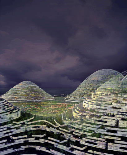 <p>The 3D grid eliminates the need for subterranean infrastructure, as well as making the buildings more structurally sound.</p>