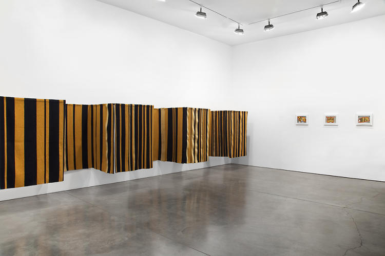 <p>She also experiments with pulling the textiles away from the gallery wall, creating architectural spaces.</p>