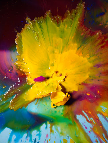 <p>Paint splatters make for a stunning shot in the series.</p>