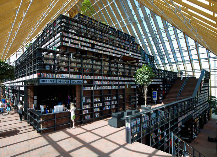 <p>The library, located in a suburb of Rotterdam, is an &quot;advertisement for reading&quot; in an area with a 10% illiteracy rate.</p>