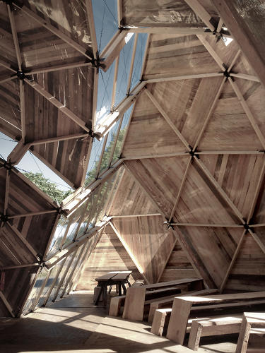 <p>Their design solves several problems with the original geodesic design. For one, it increases the amount of light cast into the structure.</p>