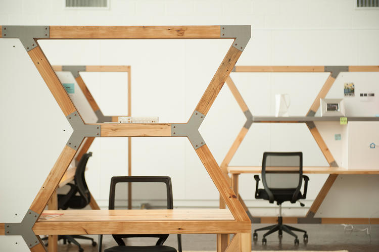 <p>HIVE is built from materials reclaimed around Cleveland.</p>