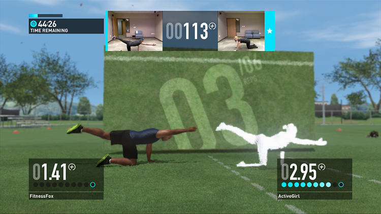 <p>Nike+ Kinect Training is set up much like a personal workout class.</p>