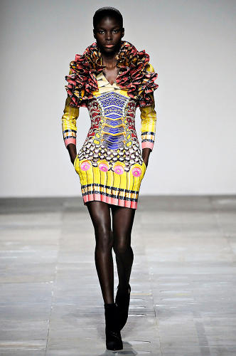 <p>Her F/W 2012 collection was heavy with references to early technology, like typewriters and phones.</p>
