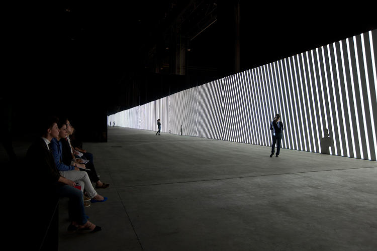 <p>It's an immersive audiovisual experience that surrounds audiences in dynamic black and white abstractions.</p>