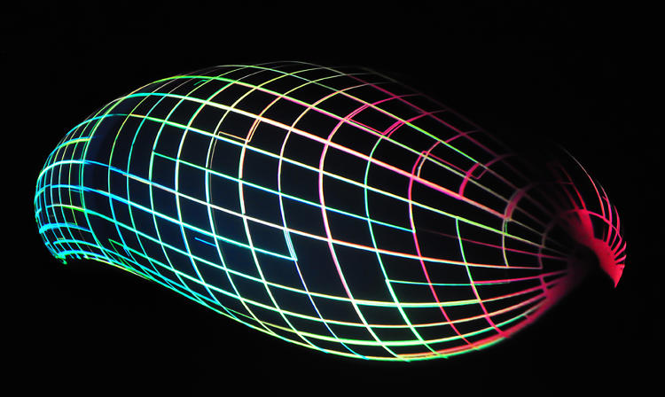 <p>In fact, the projection, developed by the computational designers at Biothing, is a direct visualization of the aerodynamic properties of Lovegrove's object, as tested by engineers at NASA.</p>