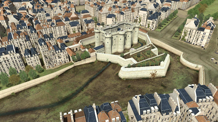 <p>Viewing the Bastille fortress in a 3-D virtual website allows website visitors to travel through time and discover new angles through which to study the Bastille's architectural components. (A 3-D exercise practiced endlessly by architects and product designers before they reach a final and complete 3-D design that mimics real life.)</p>
