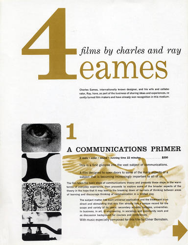 <p>&quot;There is a 'way-it-should-be-ness' about these four Eames films; with their clear visual presentation of complex information, the purchaser would have no doubts as to what would be forthcoming.&quot;</p>