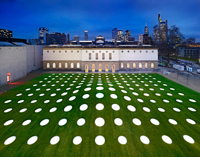 <p>The design required skylights to provide natural light to the galleries below--which the firm saw as an opportunity for giving the garden above-ground a striking makeover.</p>