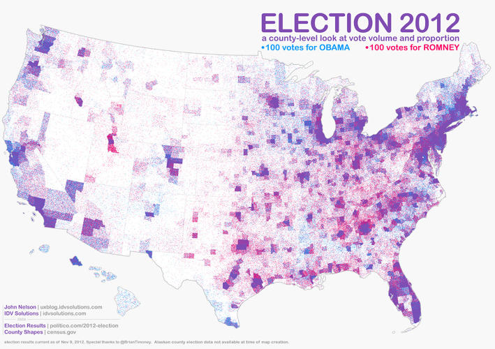<p>John Nelson reimagines the election night map as one driven by points rather than blocs.</p>