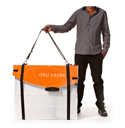<p>The Oyu is a Kayak that folds up like a big, plastic mail envelope.</p>
