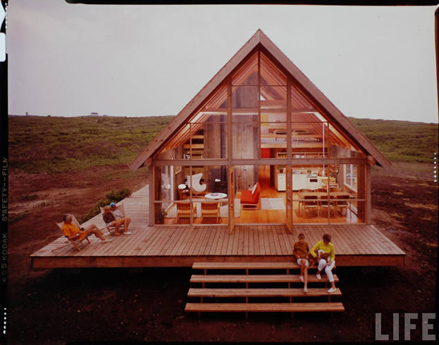 <p>A 1967 photo of Jens Risom's family beach house, on the northern tip of Block Island.</p>