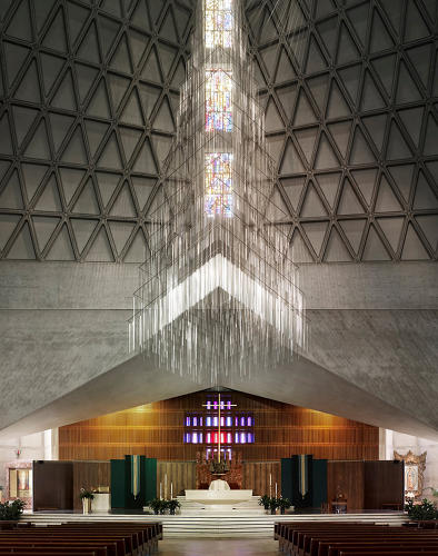 <p>The beautiful diamond texture of Pietro Belluschi's Church of Mary of the Assumption, the only American church in the series (it was finished in San Francisco in 1971).</p>