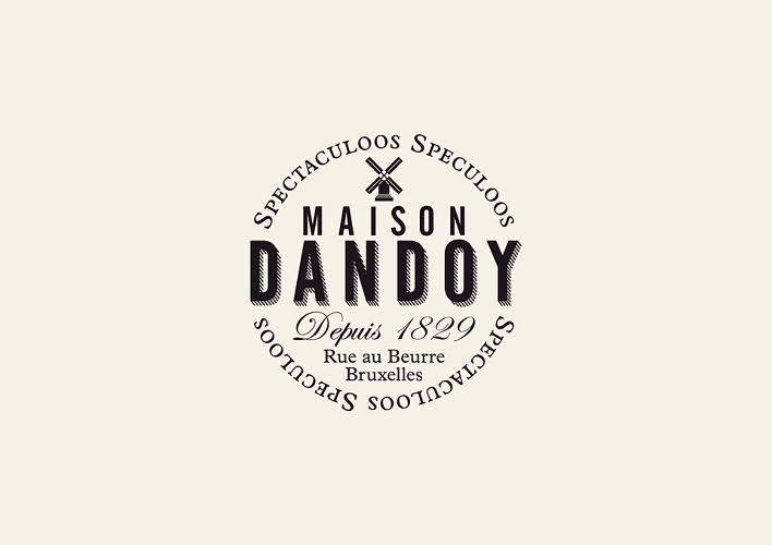 <p>The emblem references Maison Dandoy's long history as a maker of Speculoos cookies.</p>
