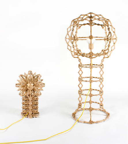 <p>The Expanding Lamp is essentially a Hoberman Sphere that's been transformed into a lighting fixture that works for your table or your floor.</p>