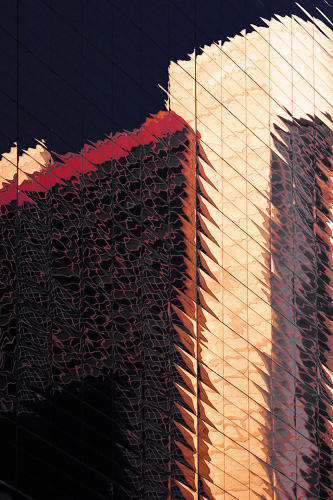 <p>By capturing portions of the buildings without showing their scale, he draws attention to the details and patterns found in the natural deformation of the building envelope.</p>