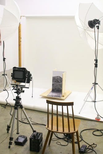 <p>Gowans set up the maquettes and photographed them in his studio.</p>