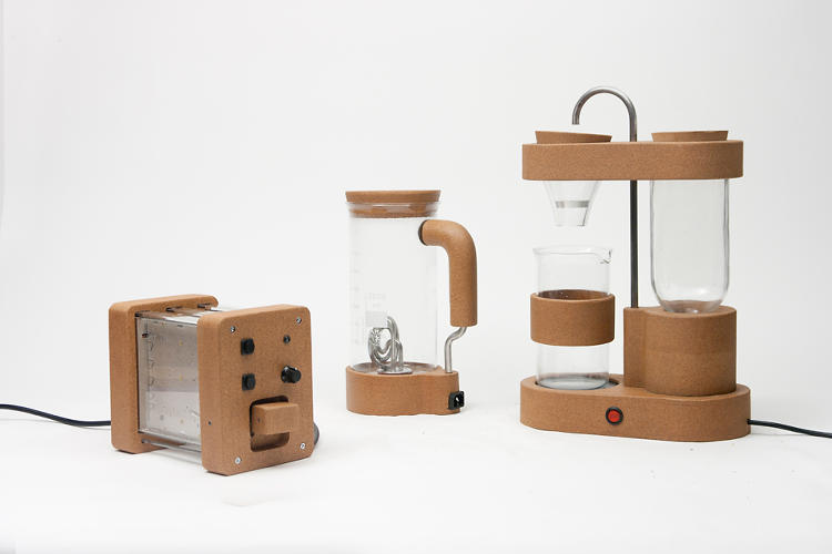 <p>French designer and RCA graduate <a href=&quot;http://www.gaspardtineberes.com&quot; target=&quot;_blank&quot;>Gaspard Tiné-Berès</a> uses electrical parts from repaired electronics in his Short Circuit series, saving the still-functional objects from the fate of a landfill.</p>
