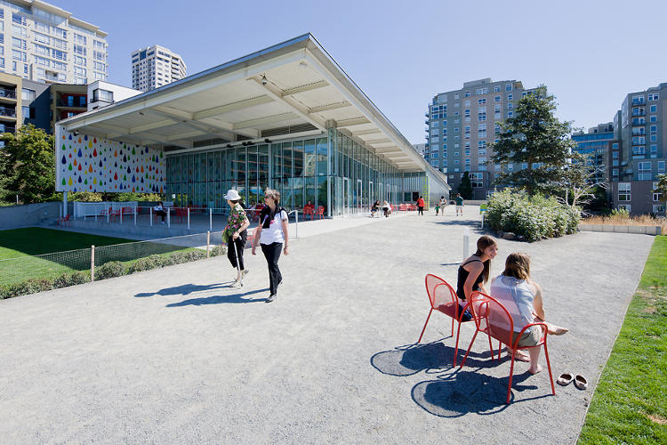 <p>The PACCAR Pavilion at the Olympic Sculpture Park by Weiss/Manfredi is part of a new exhibit that explores alternative art spaces.</p>