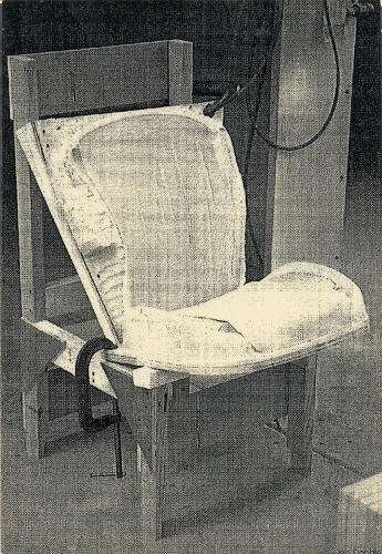 <p>Another shot of a prototype of the recline mechanism.</p>