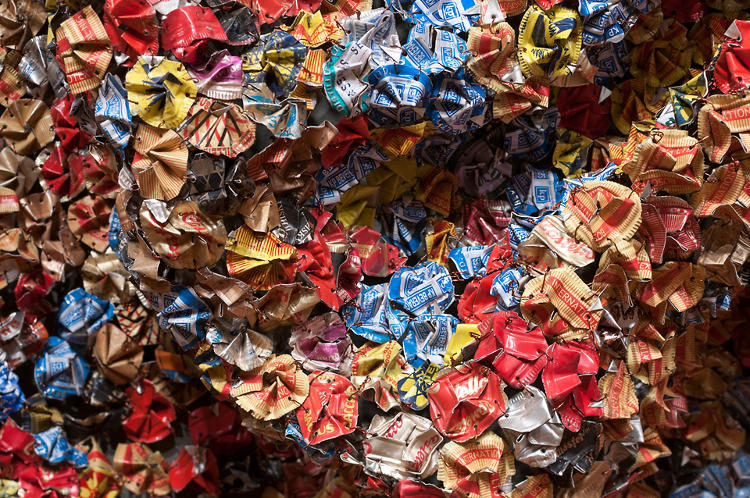 <p>&quot;Anatsui also wishes to inspire creativity in the people charged with installing his work and says he merely provides 'data' for others to reenvision and manipulate,&quot; explain the curators. <em>Amemo (Mask of Humankind)</em>, 2010.</p>