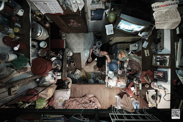 <p>The society hopes the images will bring attention to the miserable situations many Hong Kong residents live with.</p>