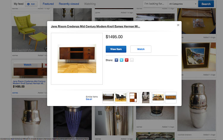 <p>To see more details, you simply click on the image and a low information density lightbox appears. Consider it your pricetag buffer between window shopping at the shopping counter.</p>