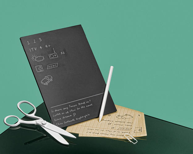 <p>This project researches the possible connection between traditional writing and a digital control system. The final proposal permits the attachment of a piece of paper to a tablet that responds to handwriting.</p>