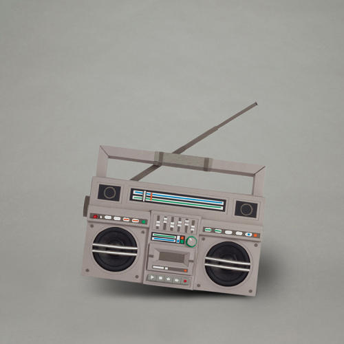 <p>Matt Nicholson's cardboard boom box is available in a downloadable template.</p>