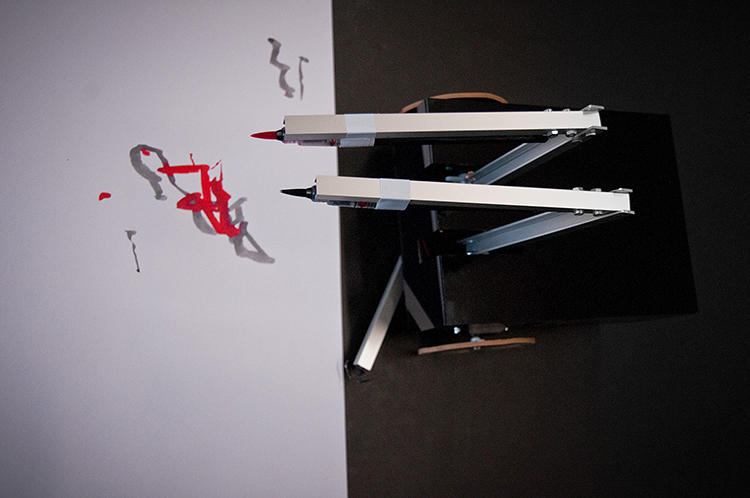 <p>BNJMN is a paint marker-wielding robot that asks the question: how artistic can a robot really be?</p>
