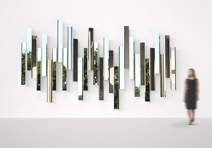 <p>Tokujin Yoshioka introduced Mirage during Milan's Design Week. The modular mirror system is a new collaboration with Italian brand Lema.</p>