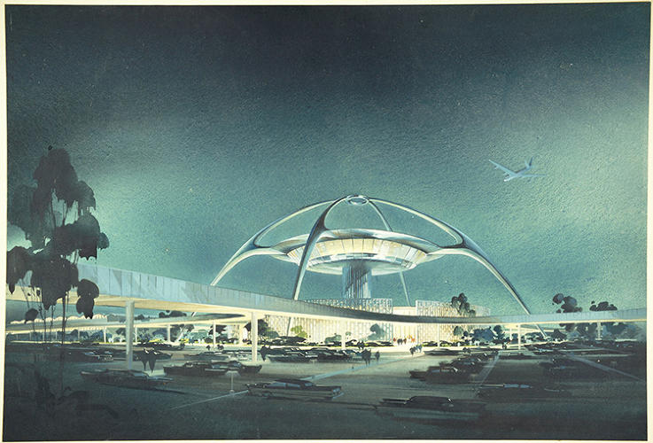<p>LAX, Theme Building; perspective view, 1961</p>