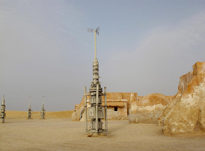 <p>Di Martino calls the sets &quot;strange archeological sites,&quot; fortuitously preserved by sand and a hot, arid climate.</p>