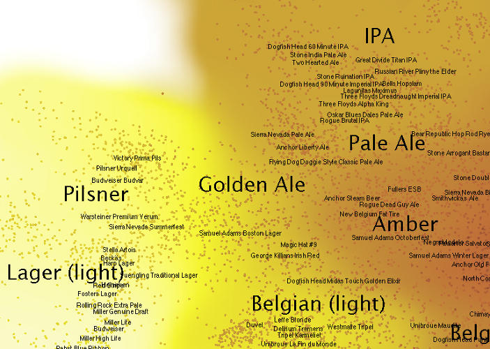 <p>The graphic, which analyzes over 200,000 beers, will come to iPads soon.</p>