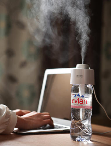 <p>The &quot;Amazing Humidifier,&quot; as its called, sits right on your desk and can be screwed on any spare plastic bottle you have lying around.</p>