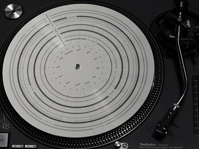 <p>&quot;Since the grooves are positioned uniquely, each record had to be meticulously laid out individually,&quot; says House about variations in the 10 limited-edition, manually cut records. &quot;I had to come up with a formula and process to figure out how much each individual ring had to scale for each record, send those percentages to Greg and he would generate the artwork.&quot;</p>