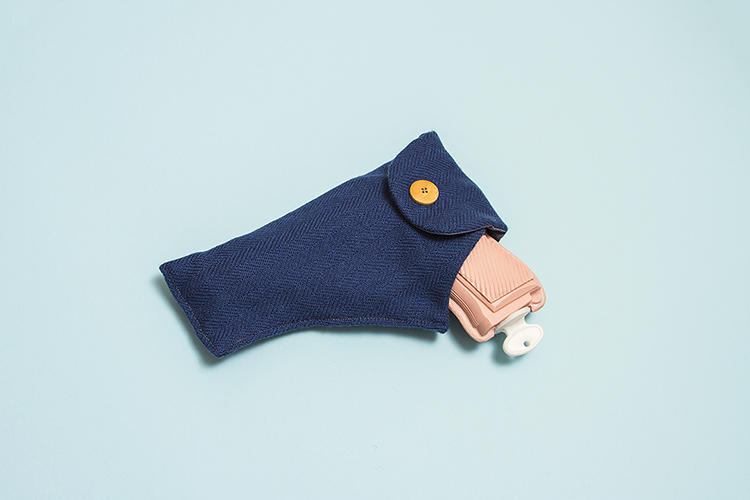 <p>It's actually a hot water bottle modeled after a toy Colt M1911, the most popular American firearm.</p>