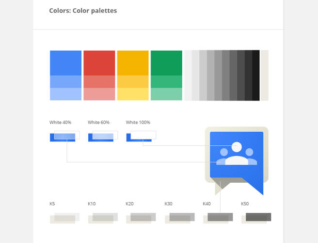 <p>Details related to the company-wide color palette are laid out …</p>