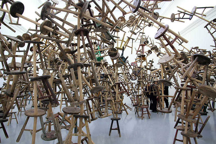 <p>The work is similar to Ai's other large-scale installations, which make use of a single modular object that is (or was) ubiquitous in contemporary Chinese life.</p>