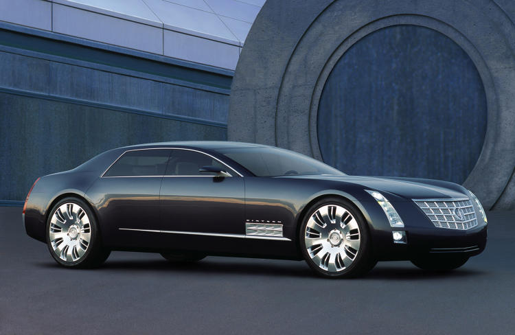 <p>Meanwhile, Cadillac was getting comfortable with a more sculpted look. Here we see it in the 2003 &quot;Sixteen Concept.&quot;</p>