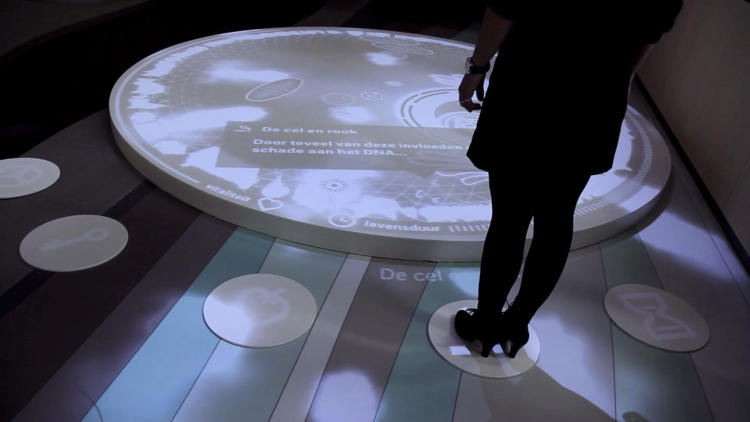 <p>The Living Cell is an interactive exhibit that lets you step right inside our body's tiny organic worlds.</p>