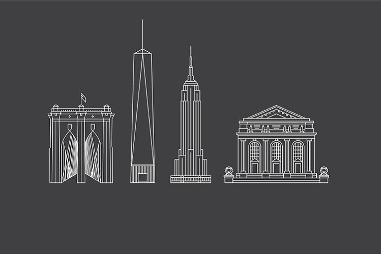 <p>Additional illustration was created for some of the city's best known landmarks.</p>