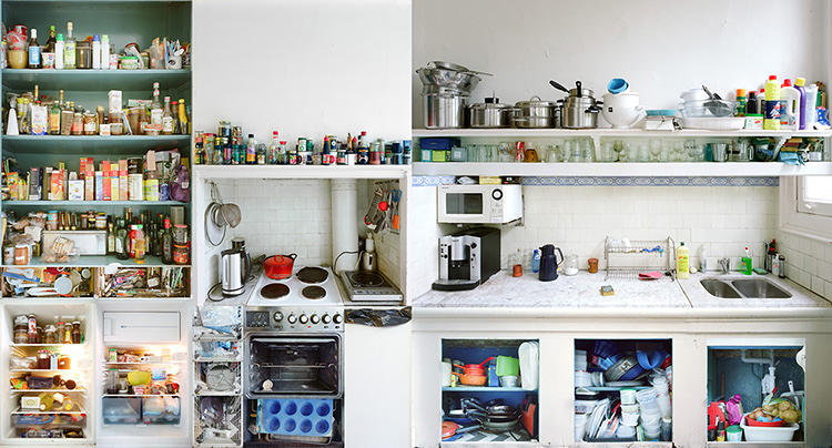 <p>The photographing is hard work, with Wolterink shooting each individual element of a kitchen, then blowing up the stills and reassembling the space to scale in his studio.</p>