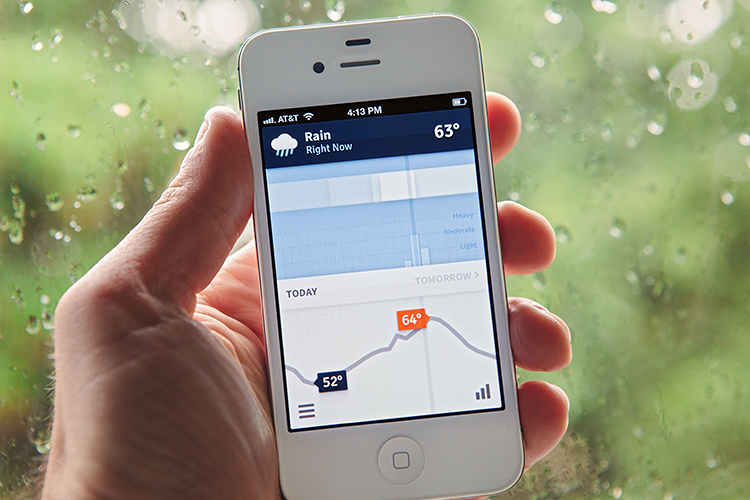 <p>Weathertron shows the weather report as an infographic.</p>