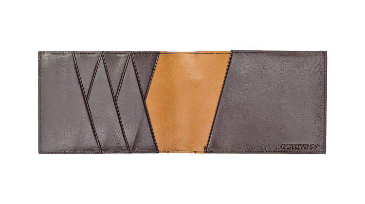<p>The wallet includes a secret billfold that disappears into the main compartment.</p>