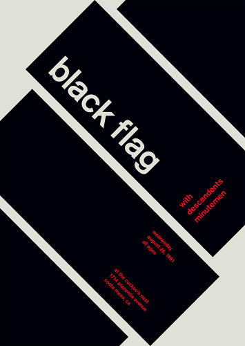 "<p>But literal design still occasionally sneaks in: ""When blown up, cropped, and put on a 45-degree angle, Raymond Pettibon's iconic logo for Black Flag is transformed from a legendary hardcore icon to unmistakable Swiss modernism.""</p>"