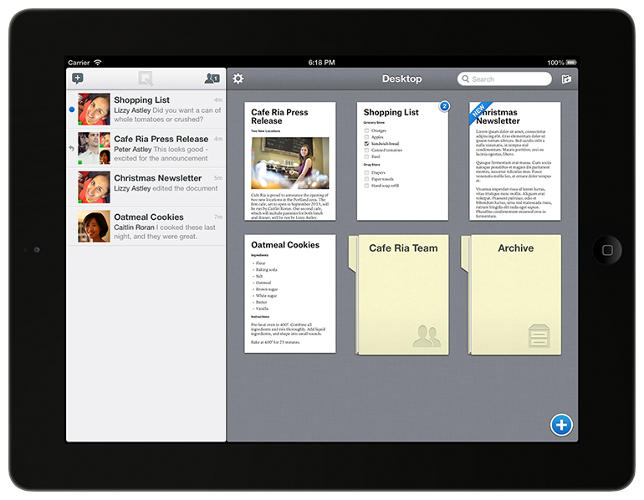 <p>Quip is a new app for word processing in iOS.</p>